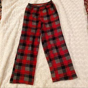 Calvin Klein Fuzzy Plaid Pajama Pants